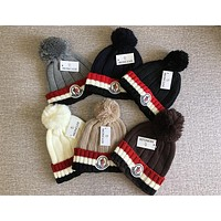Moncler Hot Sale Trending Women Men Stylish Warm Knit Hat Cap