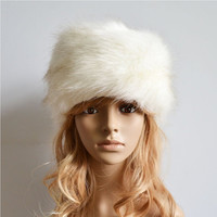 mink and fox fur ball cap hat for women wool hat beanies cap thick cap faux fur plus size warm hat TIML66