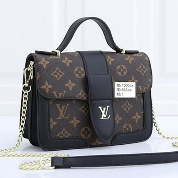 Louis Vuitton LV Women Shopping Bag Leather Satchel Shoulder Bag Tote Handbag