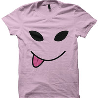 Alien Smiley Face T-Shirt Ladies Tops Tees Mens Fashion Cheap Gifts Funny Shirts Back To School Clothes