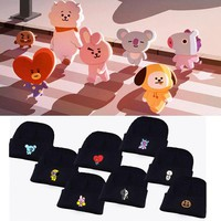Casual Unisex Cotton K-pop Bts bangtan boys In Bloom Hat Cartoon Cute Baseball Caps Kpop Knitted Hats Print kawaii BTS21 Cap