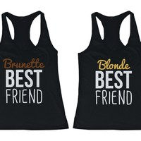 Cute Brunette and Blonde Best Friend Tank Tops - Matching BFF Tanks