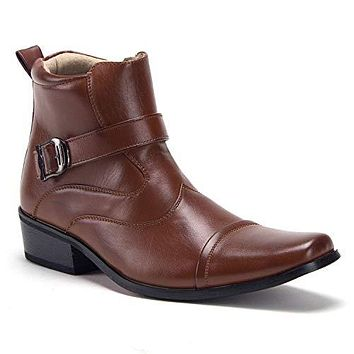 Men's 39015 Leather Lined Tall Western Style Cowboy Dress Boots