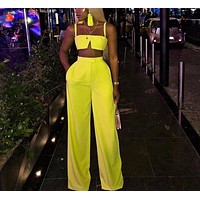 Sexy Slash Two Piece Jumpsuit