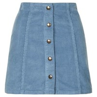 Cord Popper A-Line Mini Skirt - Skirts - Clothing
