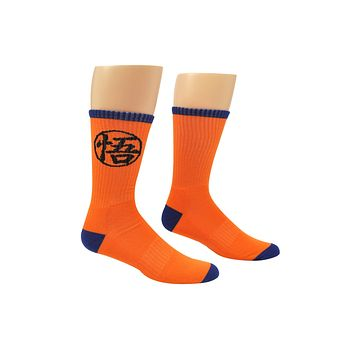 Dragon Ball Super Goku Logo Crew Socks