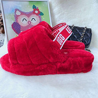 UGG Classic Hot Sale Color Block Plush Slippers Boots Shoes