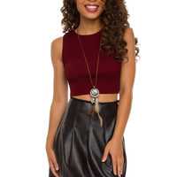 Calypso Pleather Skirt - Black