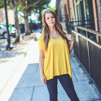 Short Sleeve Piko in Mustard