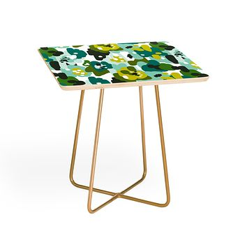 Heather Dutton Painted Camo Side Table