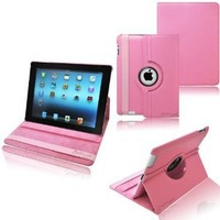 Amazon.com: Ionic Rotating Stand Leather Case with SLEEP AND WAKE Function For Apple iPad 2, iPad 3, iPad 4, iPad 2nd, iPad 3rd, iPad 4th Generation Tablet AT&T Verizon 4G LTE (Pink): Computers & Accessories