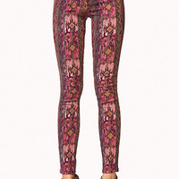 Multi-Colored Tribal Print Skinny Jeans