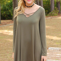 Parkway Party Dress-Olive