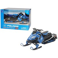 Polaris 800 Switchback Pro-X Snowmobile Blue 1/16 Diecast Model by New Ray