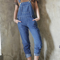Blue Bib Denim Overalls