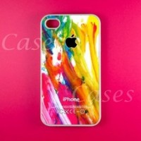 Colorful Paint Iphone 4 4s Case, 4 4s Case. Very Colorful Pretty Designer Iphone 4 4s Case,Rubber Protective Iphone 4S case