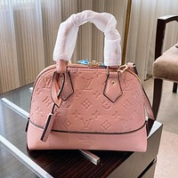 Hipgirls Louis Vuitton LV Fashion Hot Sale Solid Color Embossed Letter Shell Tote Bag Shoulder Bag