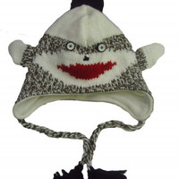 Sock Monkey knitted cap