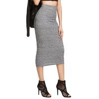 Knit Pencil Skirt Women Heather Grey