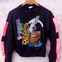 ON SALE Rare Vintage 80's SKATEBOARD Masterplan Thrasher Tony Hawk Sweatshirt Sweater Punk