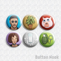 Leon The Professional 6 Pack - Pinback Badge / Magnets / Sticky