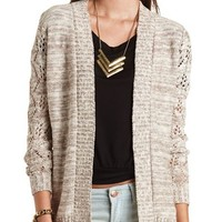 Marled Open-Front Cardigan: Charlotte Russe