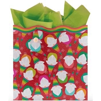 Rollin' with My Gnnomies Large Square Gift Bag