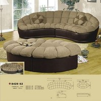 Chenille Comfortable Sectional Sofa couch Set with loveseat ottoman