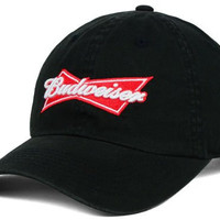 Budweiser King of Beers Strapback Black Beer Cap Hat