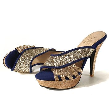 Women's Summer High Heel Sequin Stiletto Heel Sandals
