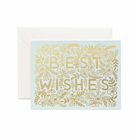 RIFLE PAPER GOLDEN BEST WISHES CARD