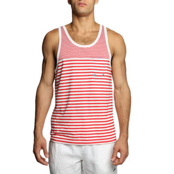 Contrast Striped Jersey Fausto Tank