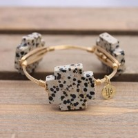 Bourbon And Boweties Classic Collection: Plus Dalmatian Cross Bangle - Ryan's Daughters