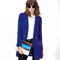 Business Casual Suit Extra long Outerwear Jacket a13217