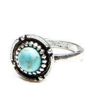 Brandy ♥ Melville |  Circular Turquoise Stone Ring - Jewelry - Accessories