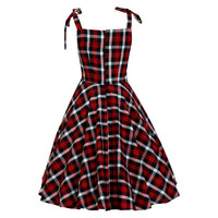 Tartan Dress Checkered Dress Casual Dress Summer Dress Pin Up Dress Rockabilly Dress Goth Dress 50s Swing Dress Party Dress Plus Size Dress