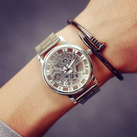 2017 New Fashion JIS Watch Gold Color Mens Watches casual Top Brand Luxury Hot Selling Ladies Watch Steel Women Dress Watches