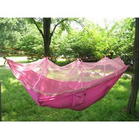 Double Hammock, 2 Person Nylon Hammock with Mosquito Net. Good Quality