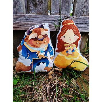 Beauty and the Beast Pillow Pals.