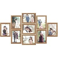 Family Wedding Photo Frame Set Resin Wedding Couples Wall Hanging Picture Frame Collage Set Display Modern Wall Photo Frame