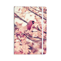 """Qing Ji """"Angry Bird in Fall Leaves"""" Orange Nature Everything Notebook"""