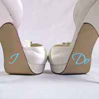 I Do Vinyl Sticker For Wedding Heel Shoes