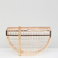 ASOS Half Moon Cage Clutch Bag at asos.com