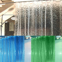 3 Colors EVA Translucent 3D Thickened Bathroom Shower Curtain Moldproof Waterproof Bathroom Curtain 1.8 x 1.8m