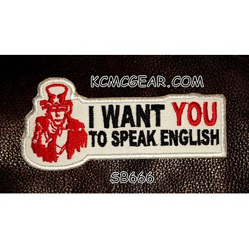I WANT YOU Small Patch Iron on for Vest Jacket SB666