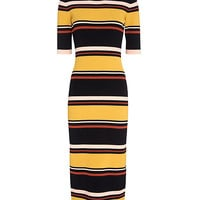 Exclusive for Intermix Wyatt Striped Mid-Length Ribbed Knit Dress at INTERMIX | Shop Now | Shop IntermixOnline.com