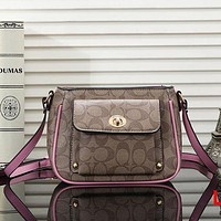 Coach Women Fashion Leather Crossbody Satchel Shoulder Bag