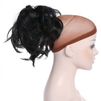 12 Inch Claw Messy Ponytail Hair Extension Synthetic Hair-Piece with Jaw Claw