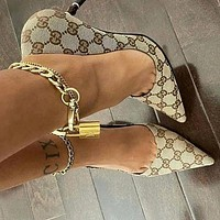 GG Pointed Sexy High Heels Shose