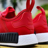 """""""ADIDAS"""" Women Running Sport Casual NMD Shoes Sneakers Red G-MDTY-SHINING"""